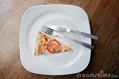 Pizza in plate