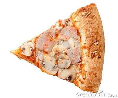 Pizza prosciutto funghi Stock Photo