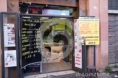 Pizza shop Editorial Stock Image