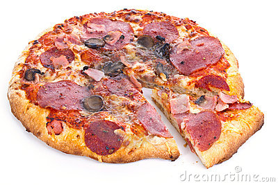 Pizza with slice