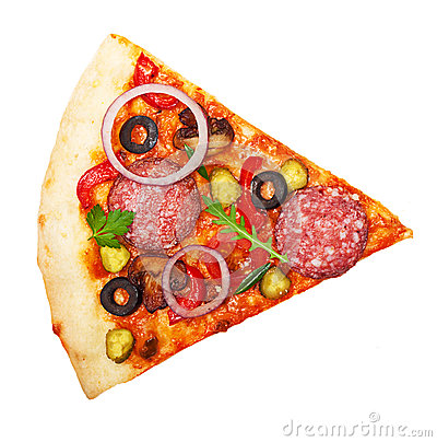Pizza slice isolated