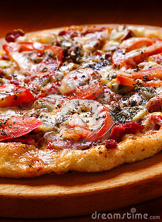 Pizza with tomato