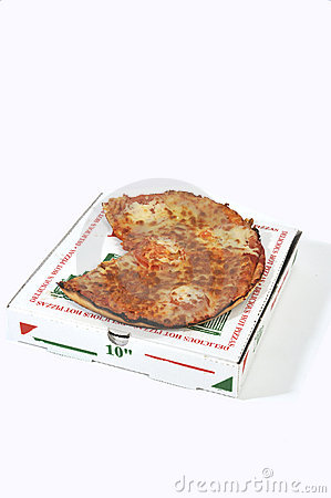 Pizza On top of pizza box