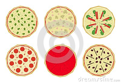 Pizza with toppings 1