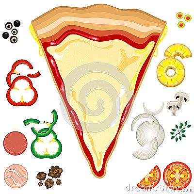 pizza toppings clipart rh worldartsme com Pizza Clip Art for Teachers pizza toppings clipart free