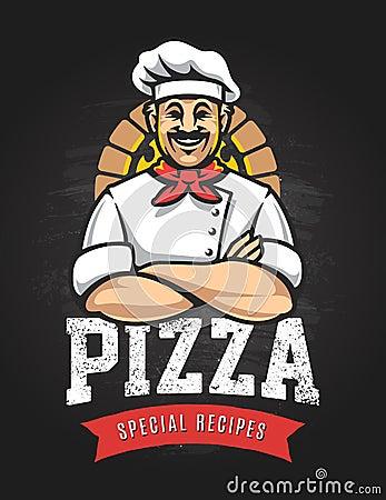 Free Pizza Vector Emblem Royalty Free Stock Photos - 92163168