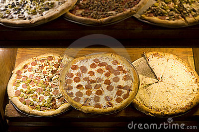 Pizzas at Pizzeria