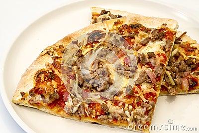 Pizzawith seafood. italian kitchen. Studio