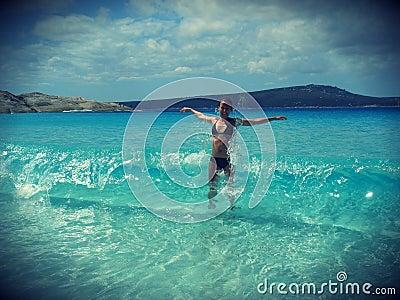 Plażowa lato zabawa