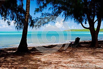 Plażowi lounging morza siedem