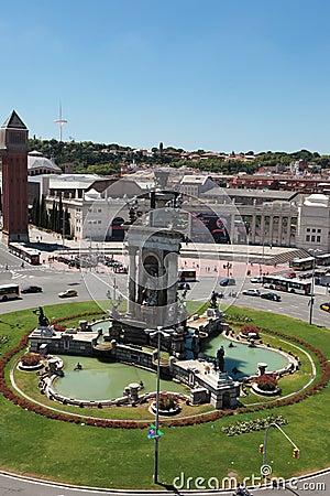 Plaça d Espanya (Plaza de Espana), Barcelona Editorial Photography