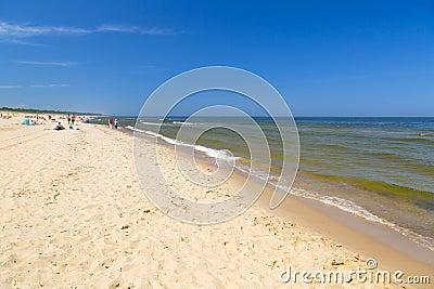 Plaża przy morzem bałtyckim