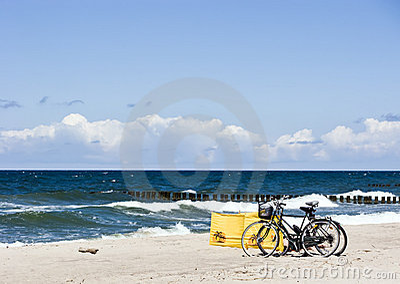 Plaża rowery