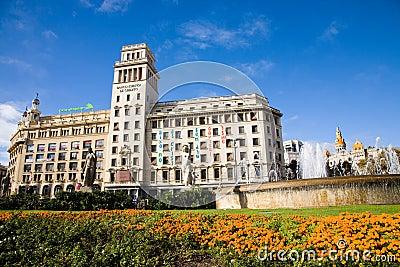 Placa catalunya, Barcelona Editorial Photography