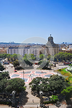 Placa Catalunya in Barcelona, Spain Editorial Image