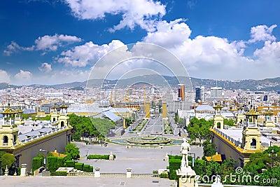 Placa De Espanya, Barcelona. Spain