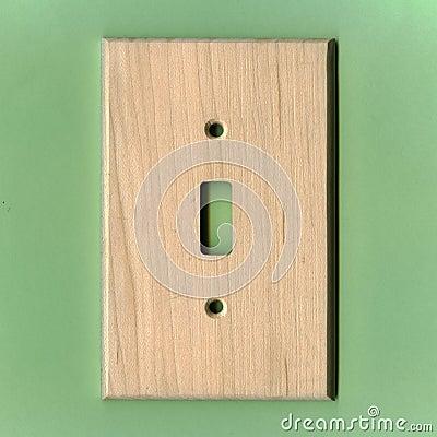 Placa de madeira leve do interruptor