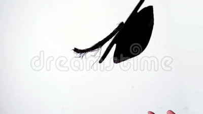 Placa do almofariz que está sendo lanç no ar vídeos de arquivo