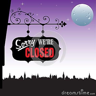 Placa fechada