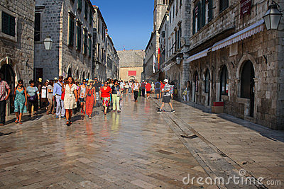 Placa Stradun Editorial Stock Photo