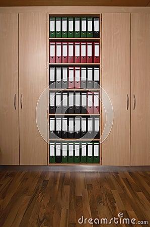 placard de bureau avec des dossiers plancher en bois photo libre de droits image 29947385. Black Bedroom Furniture Sets. Home Design Ideas