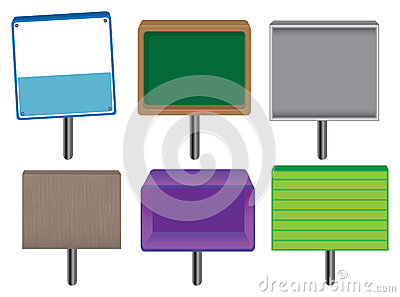 Placards and Signboards Vector
