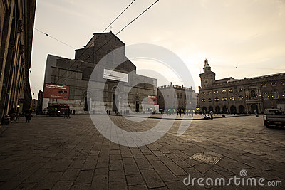 Place of bologna Editorial Stock Photo
