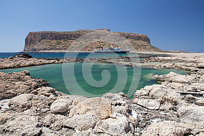 Balos lagoon of Crete, Greece