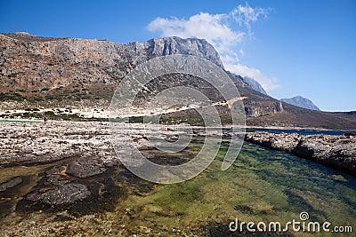 Balos lagoon of Crete, Greece
