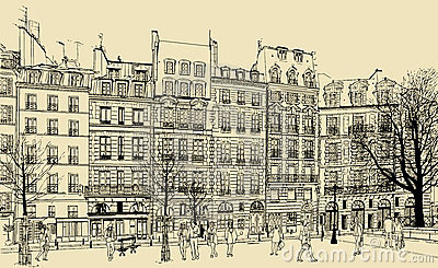 Place Dauphine  illustration