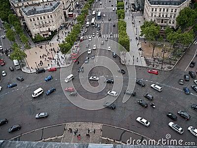 Place de LEtoile in Paris