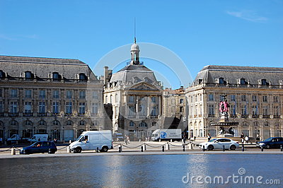 Place de la Bourse  in Bordeaux Editorial Stock Image
