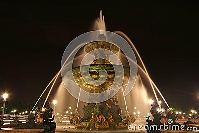 Place de la Concorde fountain in Paris, France