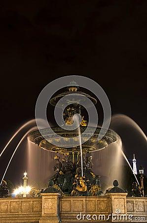 Place de la concorde, Paris Editorial Image