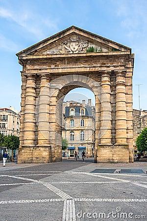 Place de la Victoire near Porte d Aquitaine in Bordeaux Editorial Stock Photo
