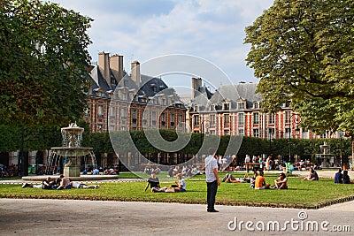 Place des Vosges Editorial Stock Photo