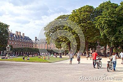 Place des Vosges Editorial Stock Image