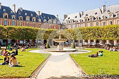 Place des Vosges, Paris Editorial Stock Image