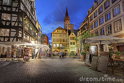 Place du Marche, Strasbourg, France Editorial Image