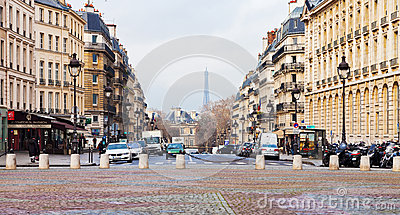 Place du Pantheon in Paris Editorial Stock Photo