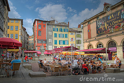 Place du Plot in Le Puy-en-Velay, France Editorial Stock Photo