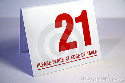 Place at end of table