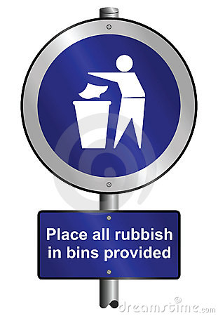 Place Litter In Bins Stock Images - Image: 13383504