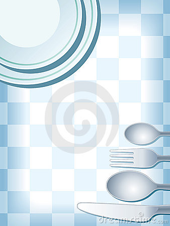 Place setting blue