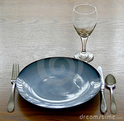Place Setting of Dishes