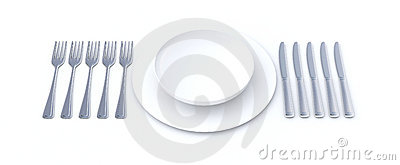 Place setting for long meal