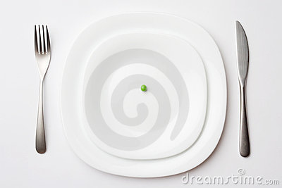 Place setting with pea