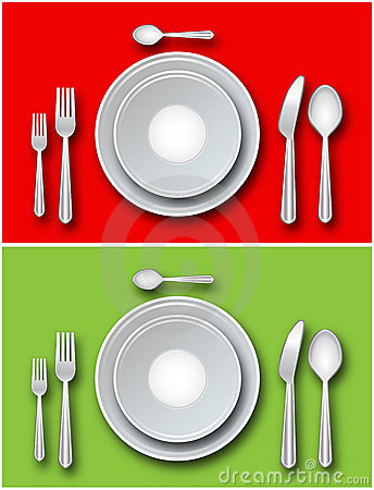 Place setting - Vector