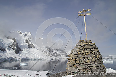Place where the first Antarctic wintering French expedition Jean