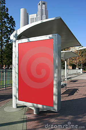 Place your ad on bus stop board
